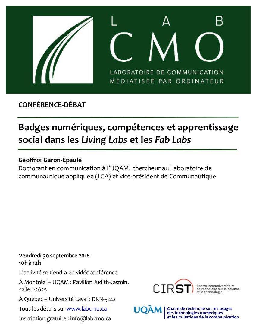 Conference-Debat-LabCMO-Badges-numeriques-FabLab-Geoffroi-Garon-Epaule-septembre2016